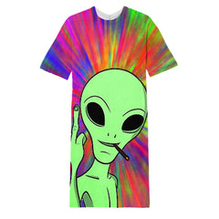 Alien stoned long T-shirt