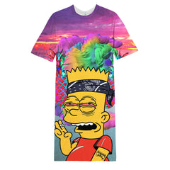 Bart stoned long T-shirt