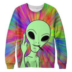Alien stoned sweatshirt