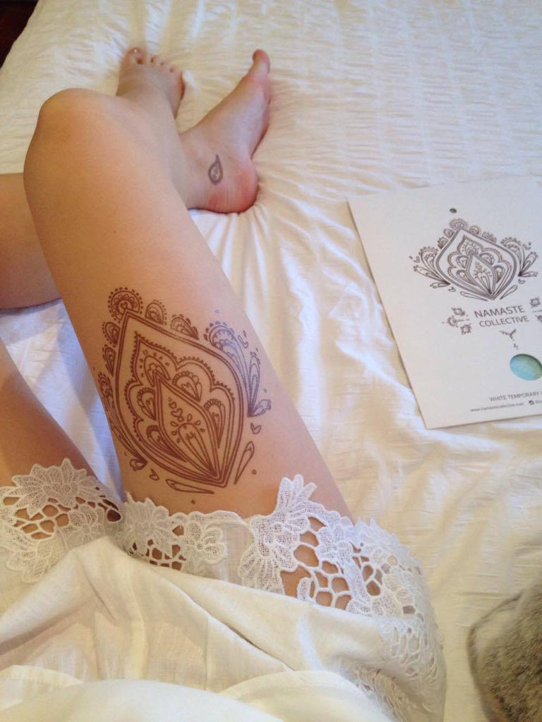 Brown Henna Flash Tattoo - Namaste Collective - 9