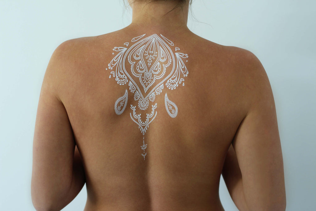 White Henna Flash Tattoo - Namaste Collective - 4