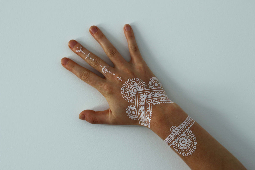 White Henna Flash Tattoo - Namaste Collective - 5
