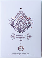 Brown Henna Flash Tattoo - Namaste Collective - 1