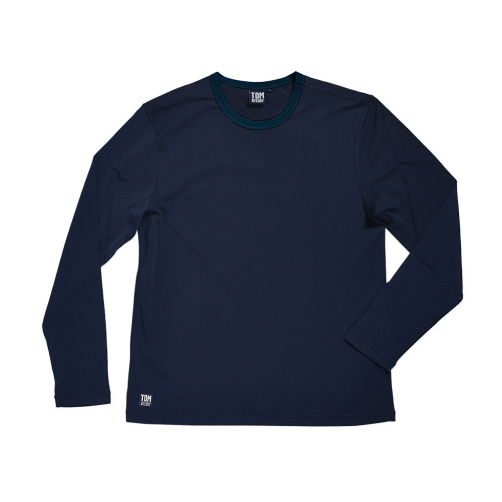 Solid Deep Blue L/Sleeve