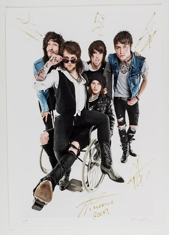 Asking Alexandria A2 Print Autographed