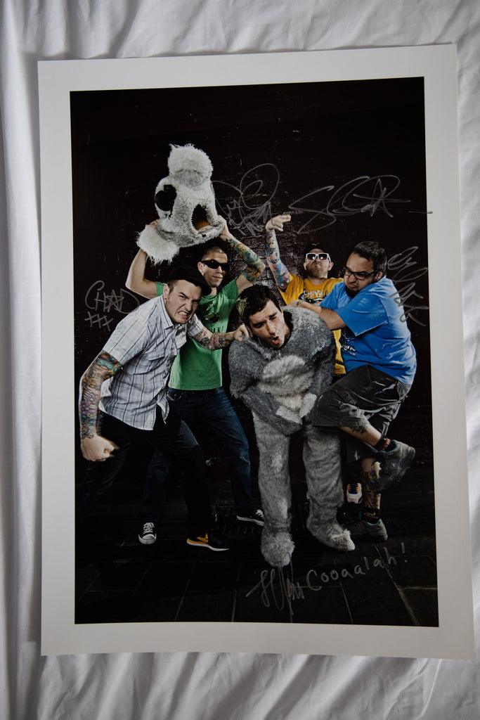 New Found Glory A2 Print Autographed