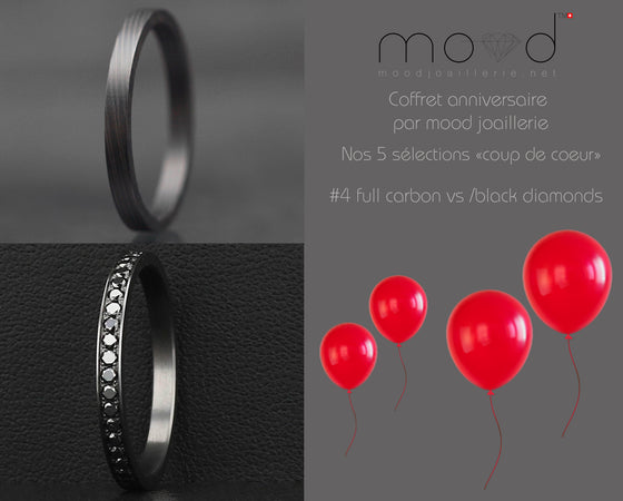 Coffret anniversaire no 4 : Addon medium full black serti de diamants noirs 1.6mm + full carbon