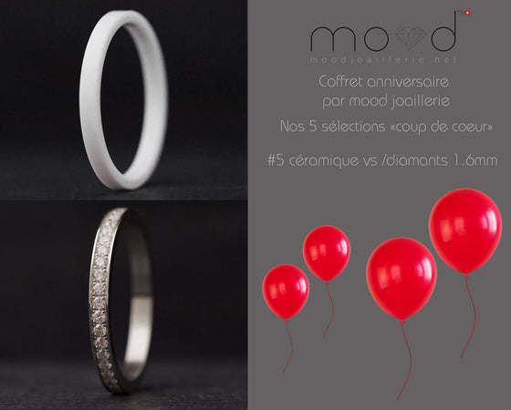 Coffret anniversaire no 5 : Addon medium serti de diamants 1.6mm + céramique