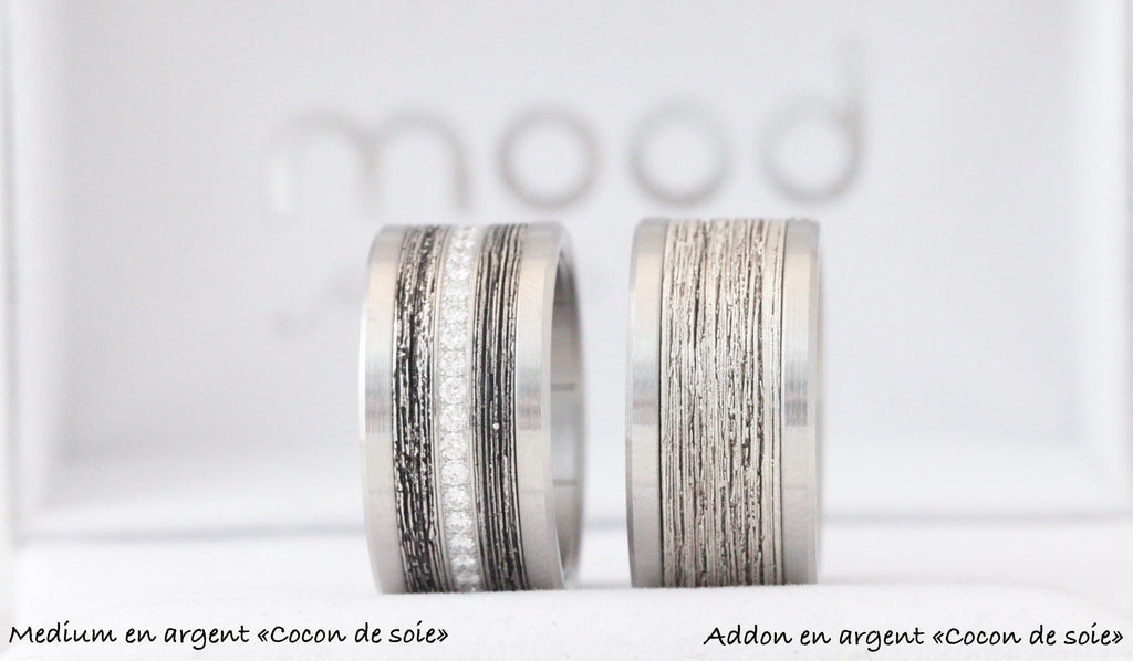 "medium argent  ""cocon de soie"""