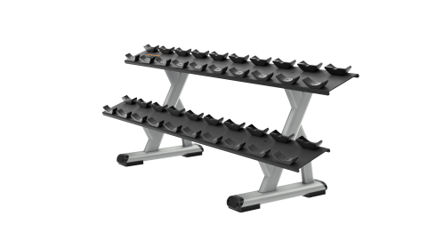 Precor Discovery Series 2 Tier Dumbbell Rack (10 Pair)