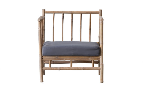 Cover for Bamboo lounge chair - LIGHT GREY