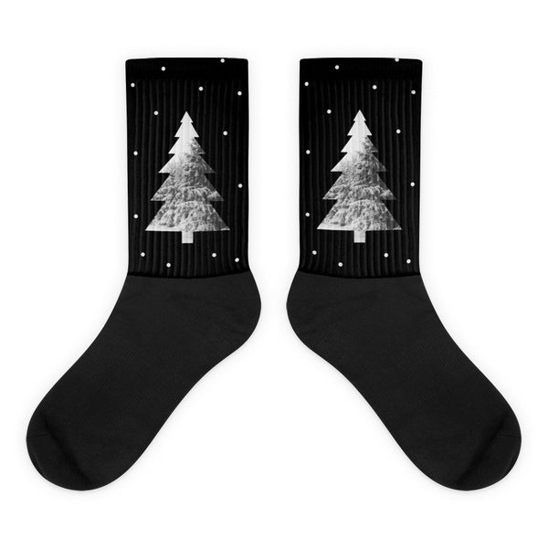 Snow Tree Unisex Black foot socks