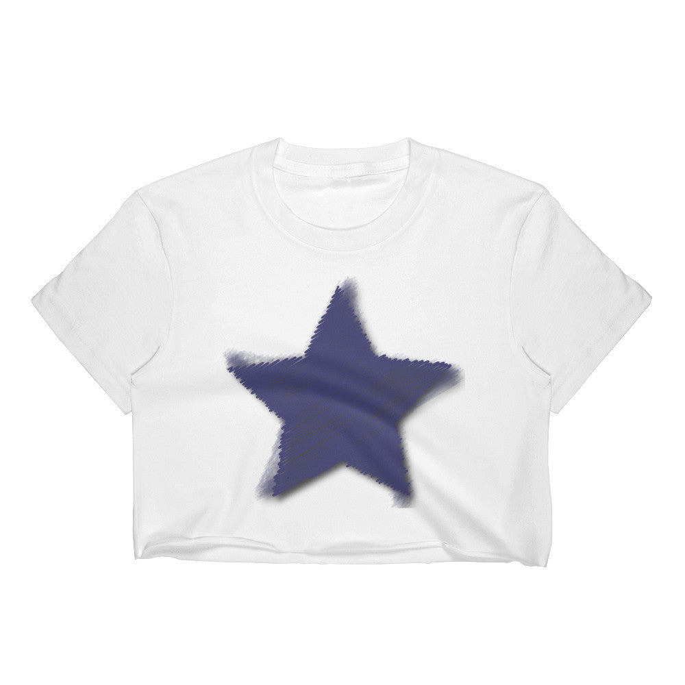 Blue Star Challenger Crop Top