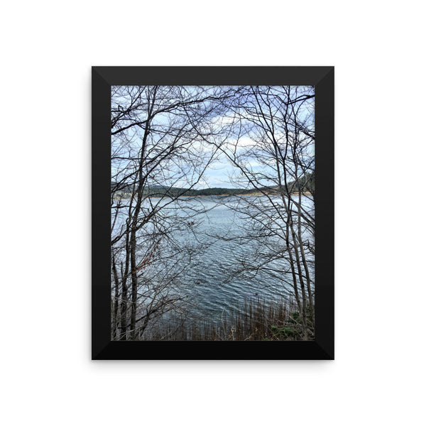 Through Naked Branches Framed photo paper poster