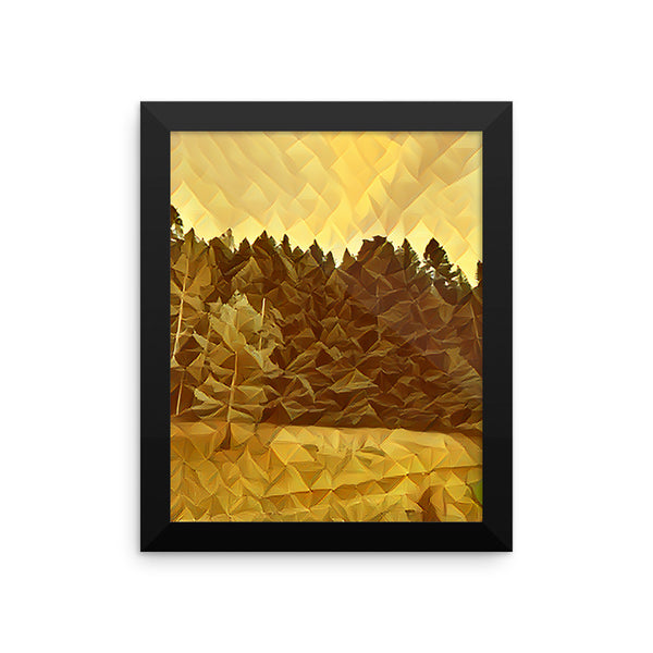 Crystalized  Framed photo paper poster