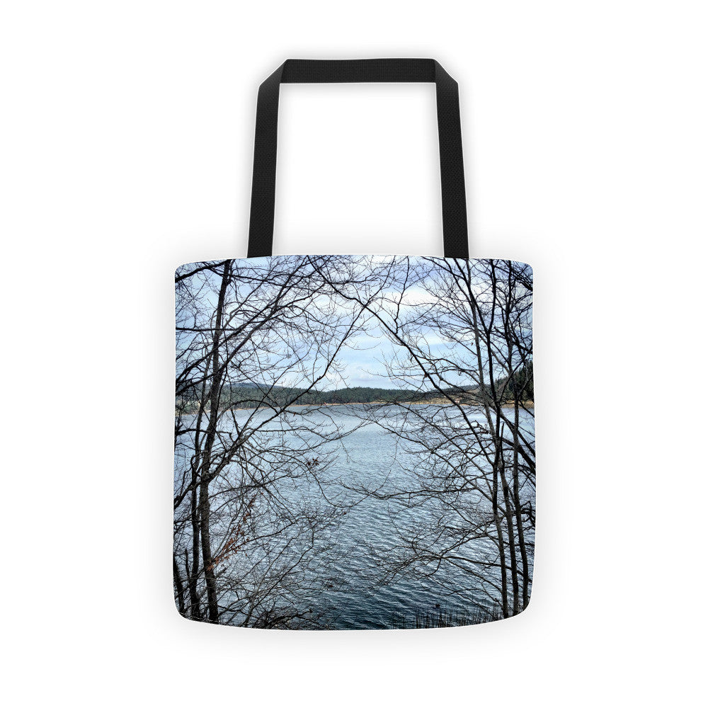 Through Naked Branches Tote Bag