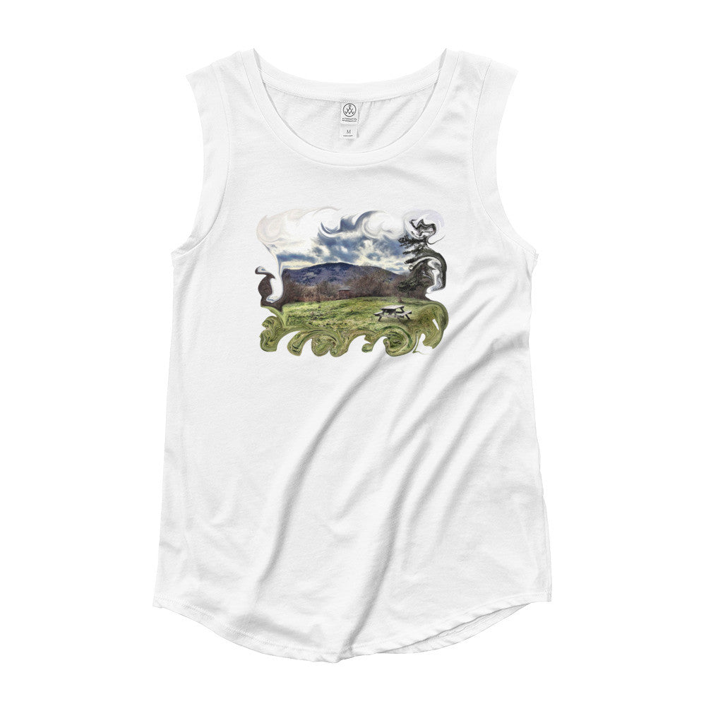 Nature Walk Ladies' Cap Sleeve T-Shirt