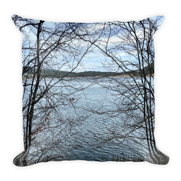 Through Naked Branches Square Pillow