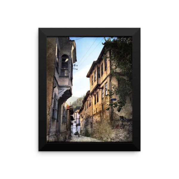 Exploring the history framed photo paper poster