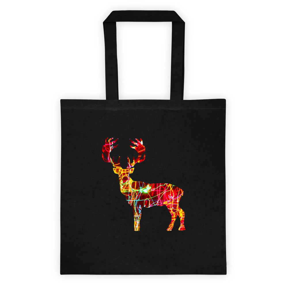 Holiday Lights Deer Tote Bag