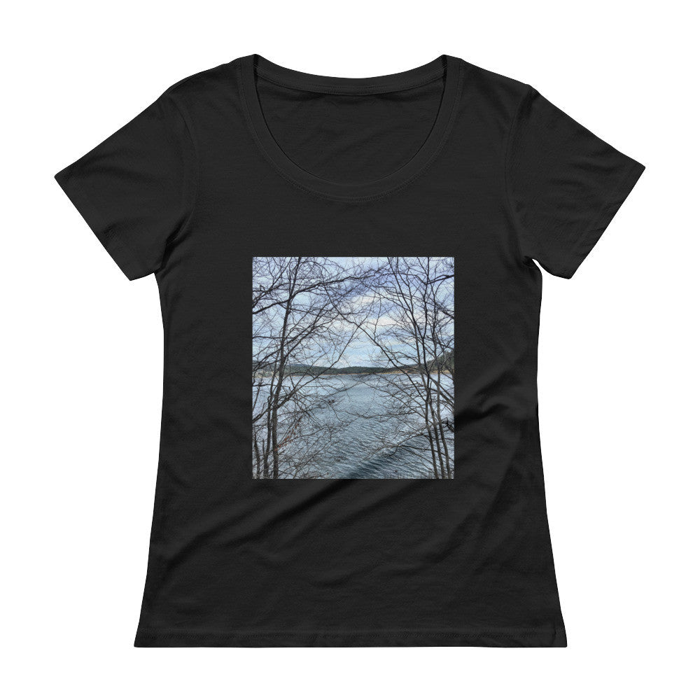 Through Naked Branches Ladies' Scoopneck T-Shirt