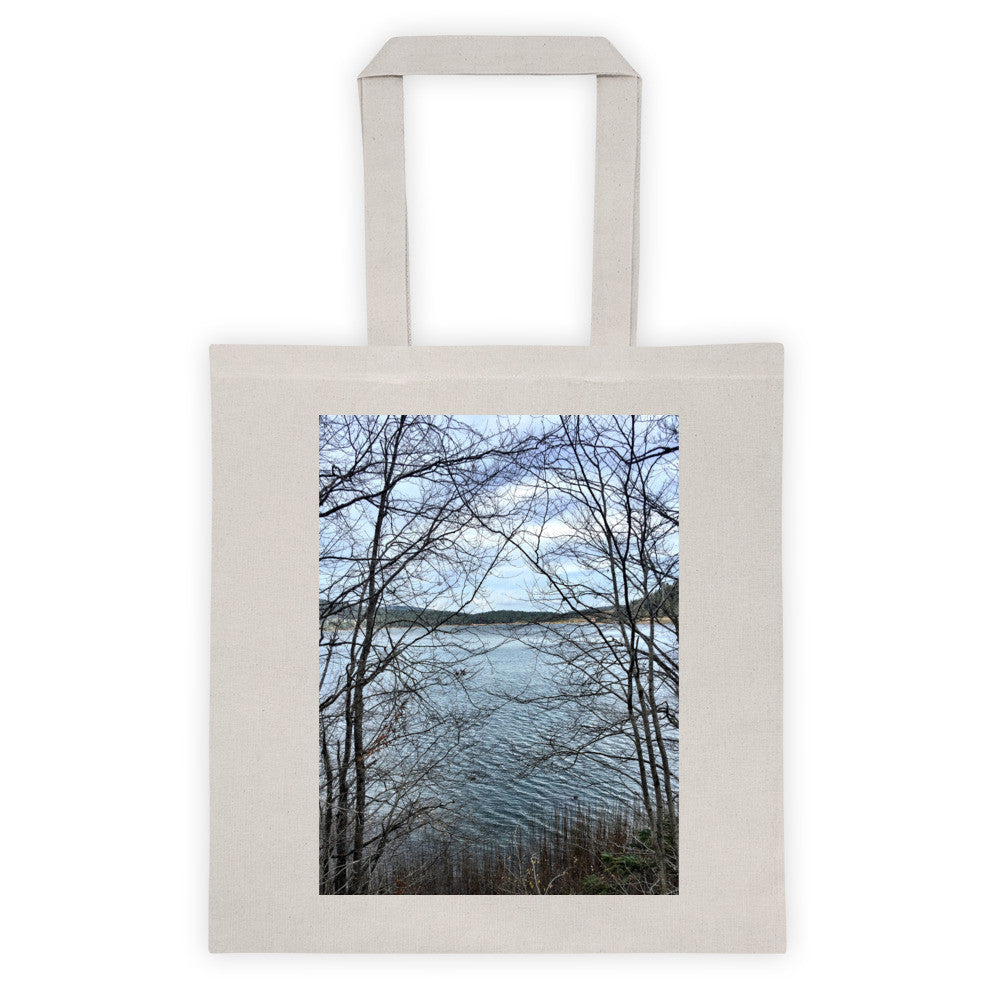 Through Naked Branches Canvas Tote Bag