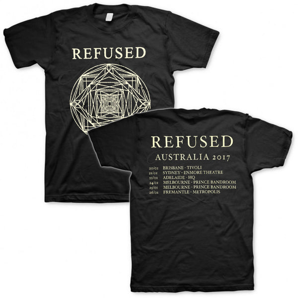Refused - 2017 Australian Tour T-shirt Black