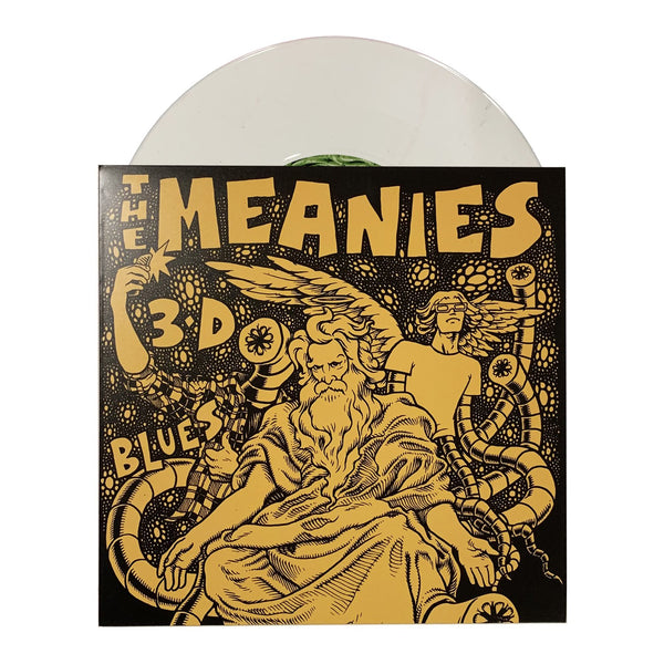"The Meanies - 3D Blues 7"" (White) with record"