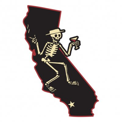 Social Distortion – Die Cut California Skelly Sticker