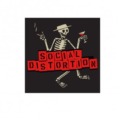 Social Distortion – Skelly w/Block Logo Sticker