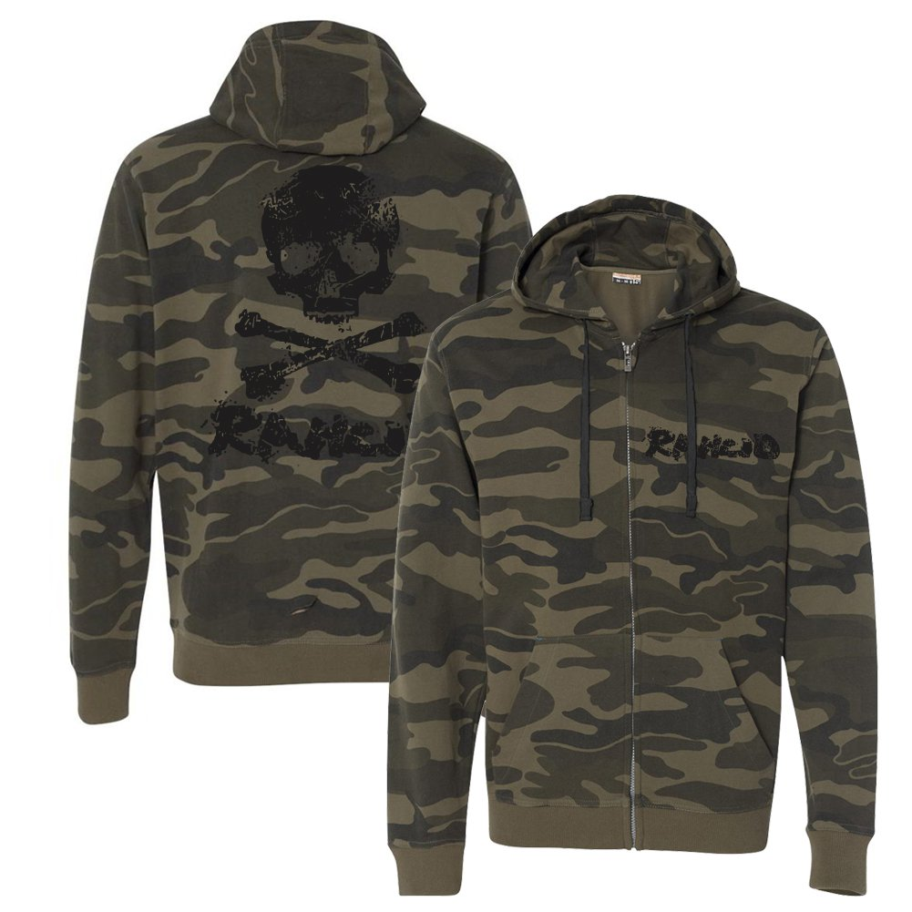 Rancid - D-Skull Zip Up Hoodie (Camo)