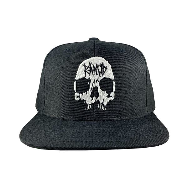 Rancid Skull Embroidered Snapback Hat