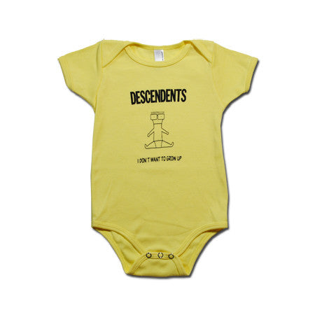 Descendents I Don't Want To Grow Up Onesie Yellow