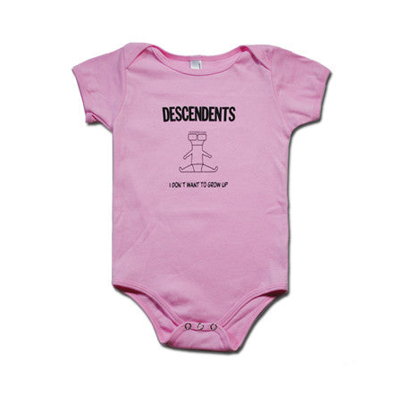 Descendents I Don't Want To Grow Up Onesie Pink