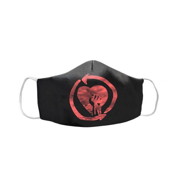 Rise Against – Red Heart Fist Face Mask (Black)