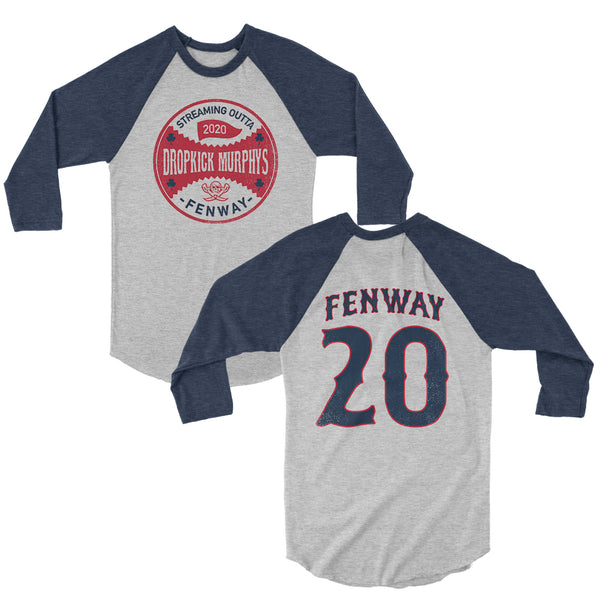 Dropkick Murphys - Series Seal Raglan (White/Navy)