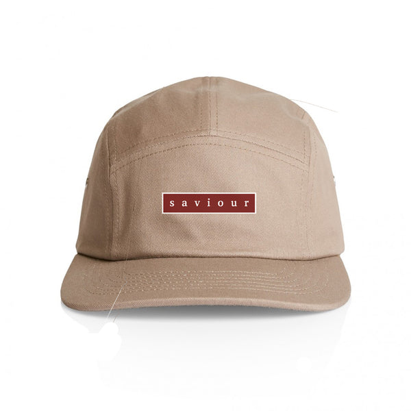 Saviour - Bar Logo 5 Panel Hat (Tan)