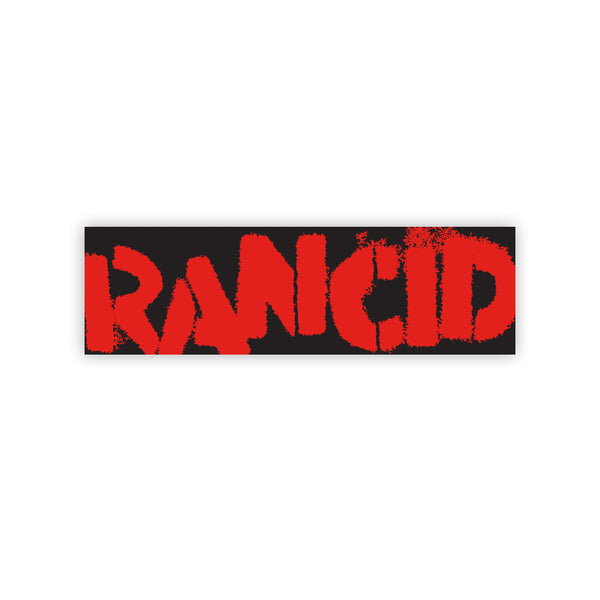 Rancid - Logo Bumper Sticker (Red on Black)