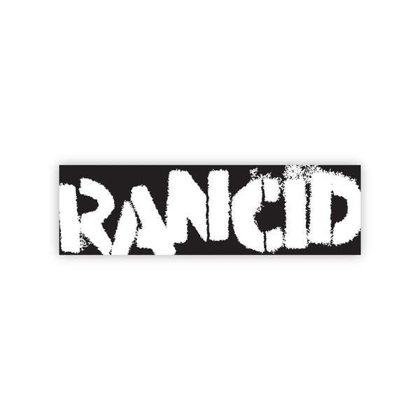 Rancid Logo Bumper Sticker (Black/White)