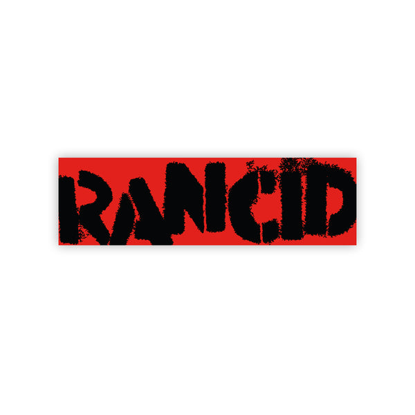 Rancid - Logo Bumper Sticker (Black on Red)