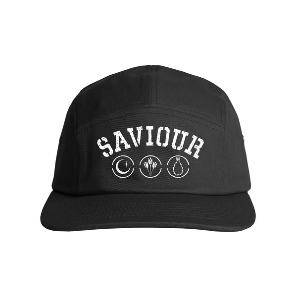 Saviour - Symbols 5 Panel Hat (Black)
