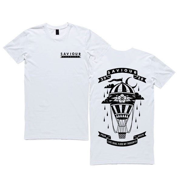 Saviour - Enemies T-Shirt (White)