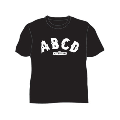 ABCD The Punk Alphabet Kids Black T-shirt
