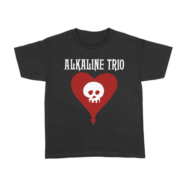 Alkaline Trio - Heart Skull Youth T-Shirt (Black)