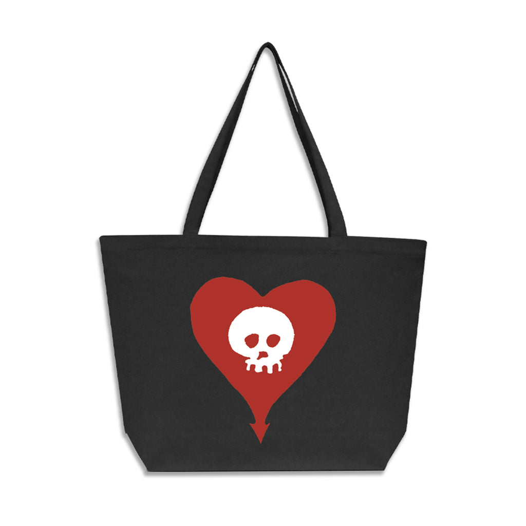 Alkaline Trio - Heart Skull Oversized Tote Bag (Faded Black)