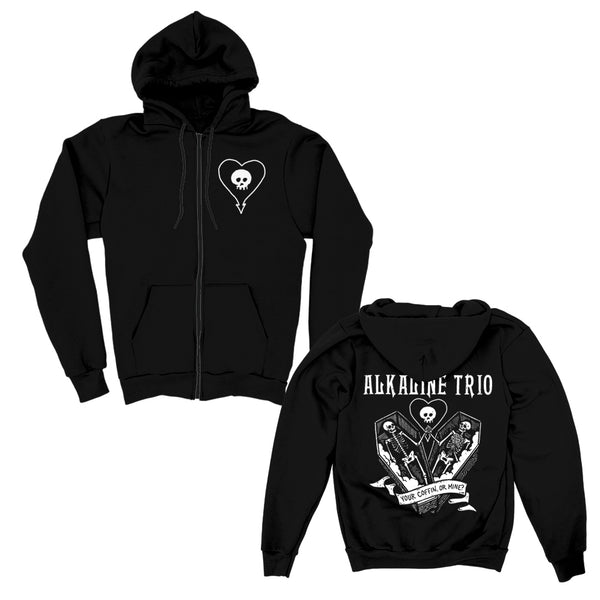 Alkaline Trio - Your Coffin Or Mine Zip Hoodie (Black)
