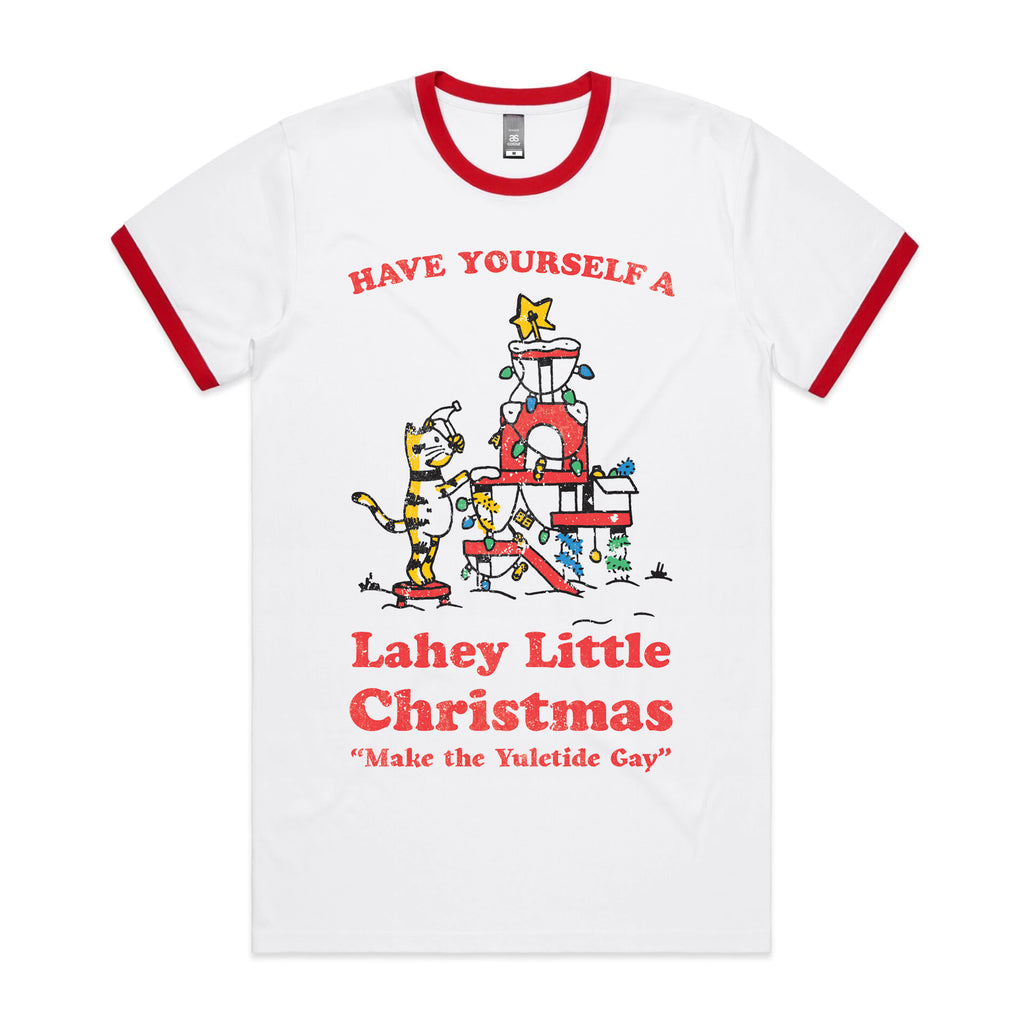 Alex Lahey - Christmas Ringer Tee (White/Red)