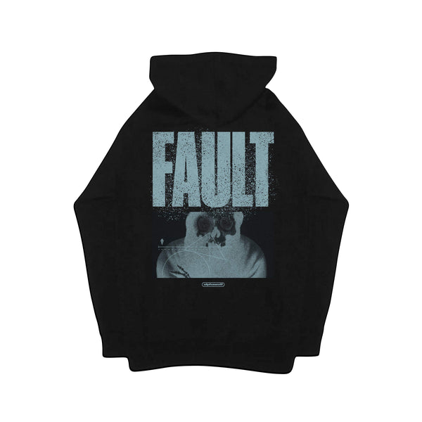 Alpha Wolf - Fault Pullover Hoodie (Black) Back