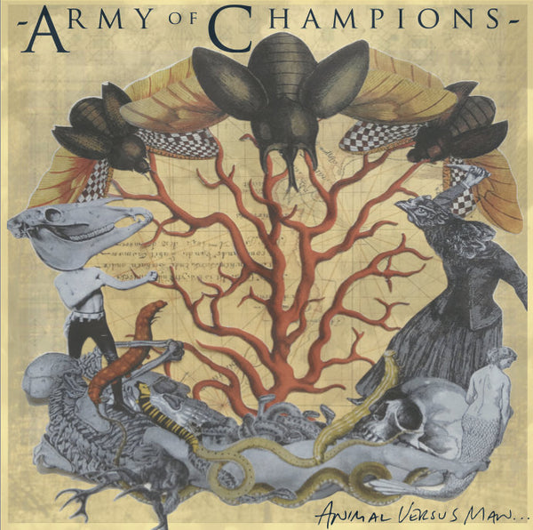 Army Of Champions - Animal Versus Man... (Maroon) LP