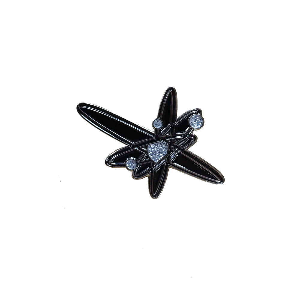 Strung Out - Black Glitter Astrolux Pin